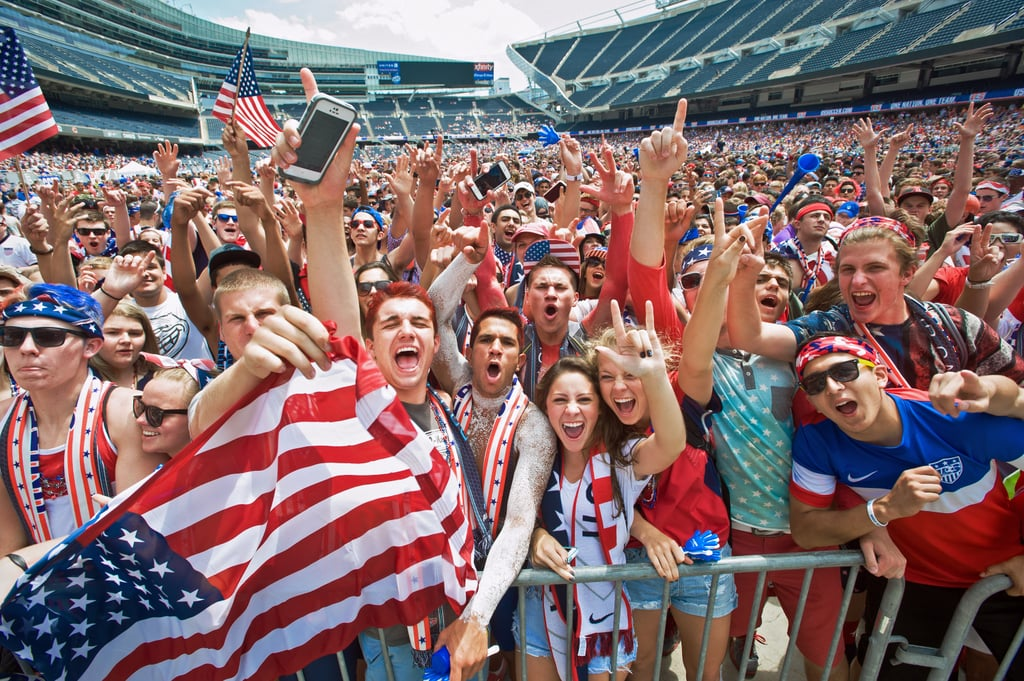 USA fans went wild while watching the game against Belgium in Chicago.