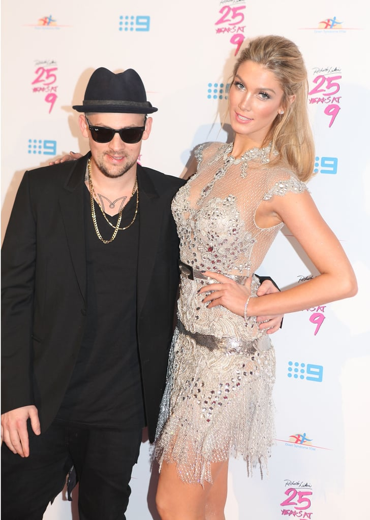 The Voice coaches Joel Madden and Delta Goodrem linked up at Richard Wilkins' fundraising event in Sydney in June 2012.