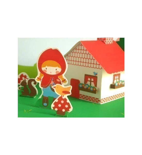 Little Red Paper House Set ($5)