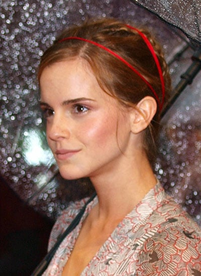 Pictures of Emma Watson's Bright Braids