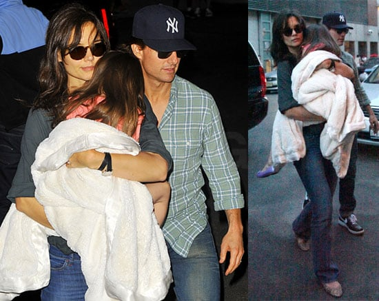 Pictures of Tom Cruise, Katie Holmes and Suri Cruise in New York
