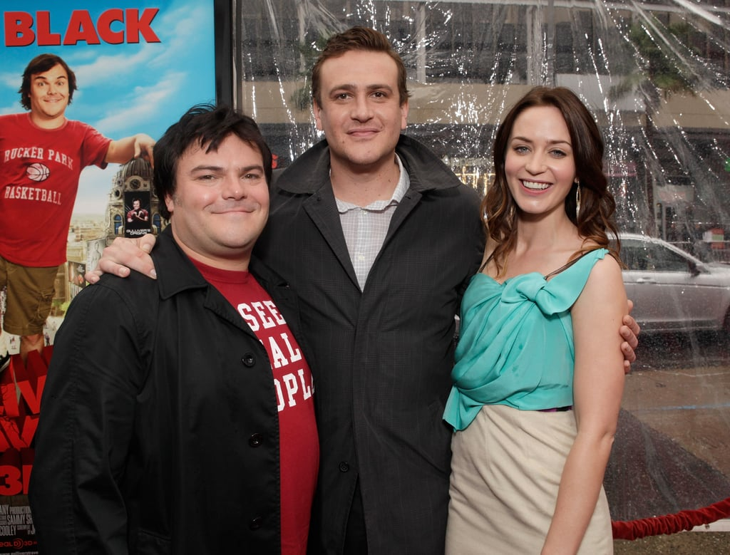 Emily Blunt Teams Up With Funnymen Jack Black and Jason Segel at the Gulliver's Travels Premiere