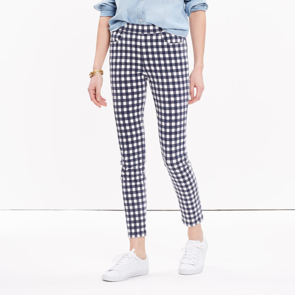 Madewell high-rise skinny crop jeans: gingham edition ($135)