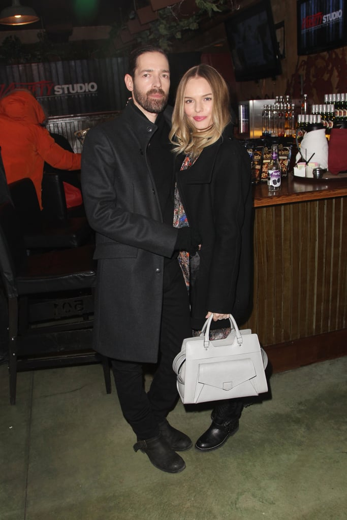 Sweethearts Michael Polish and Kate Bosworth made a styled duo in their Winter outerwear — and Kate, with her sleek Proenza Schouler bag in tow.