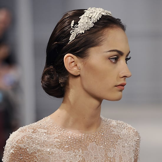 Monique Lhuillier Hair and Makeup | Bridal Spring 2014