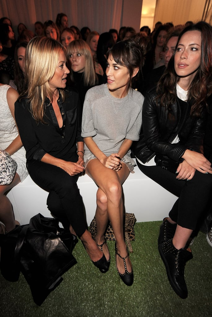 Kate Moss Throws Herself Into LFW, With Parties, Celeb Pals, & Mulberry