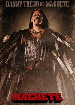 Machete in Theaters, Starring Danny Trejo, Robert De Niro, Lindsay Lohan, and Jessica Alba