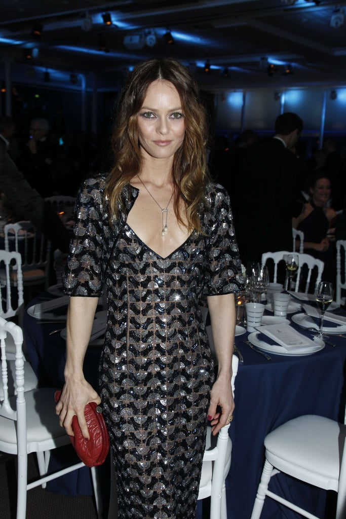 Vanessa Paradis was near her table at the Sidaction gala.