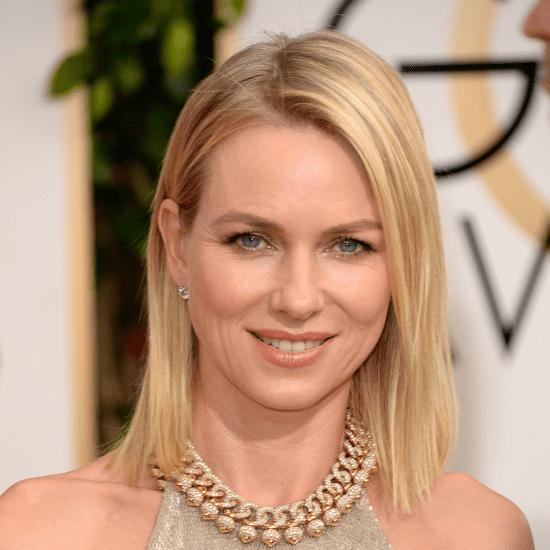 Naomi Watts's Hair and Makeup at Golden Globes 2014