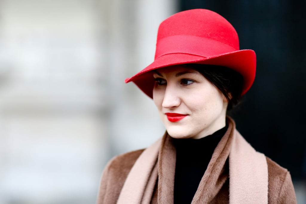 Matching your cap to your lipstick hue seems to be trendy in whatever city you're in.