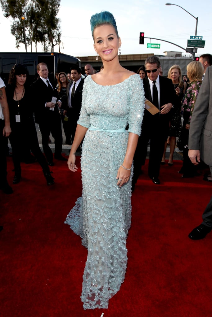 Katy Perry wore Elie Saab to the Grammys.