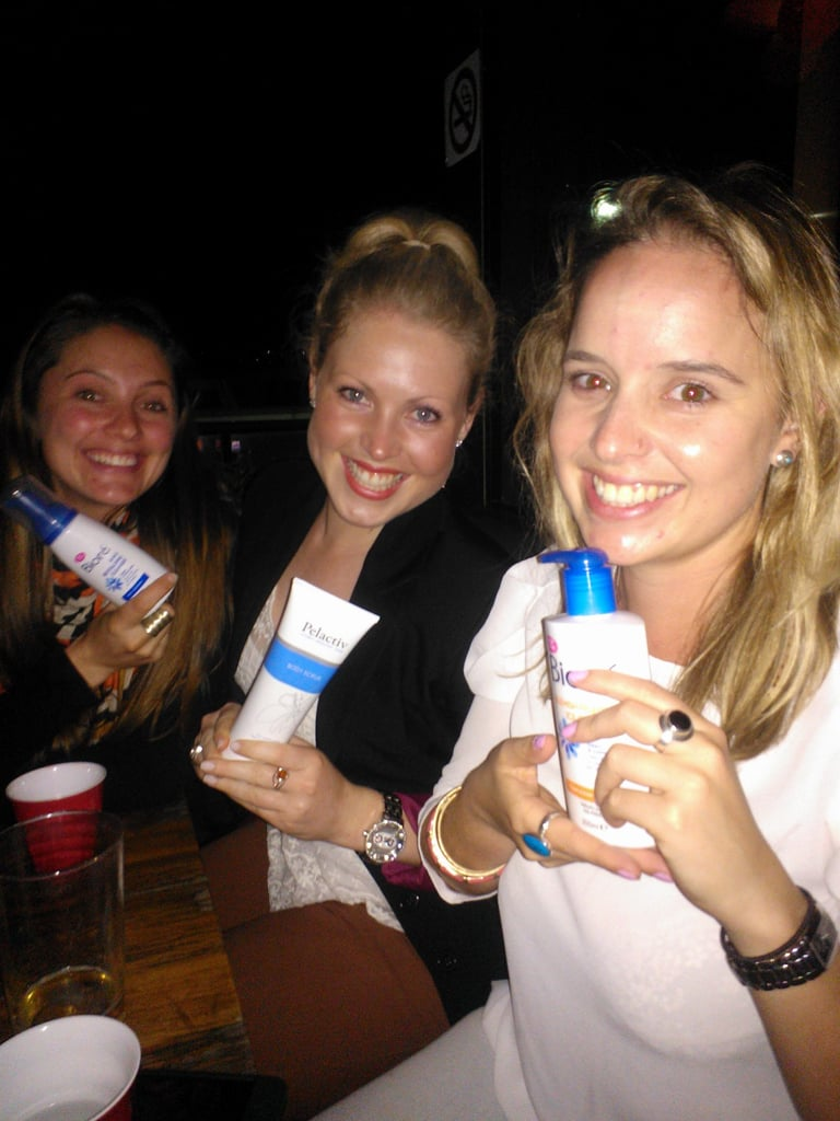 My friends doubled as promo models when they found my stash of skin-clearing beauty prods.