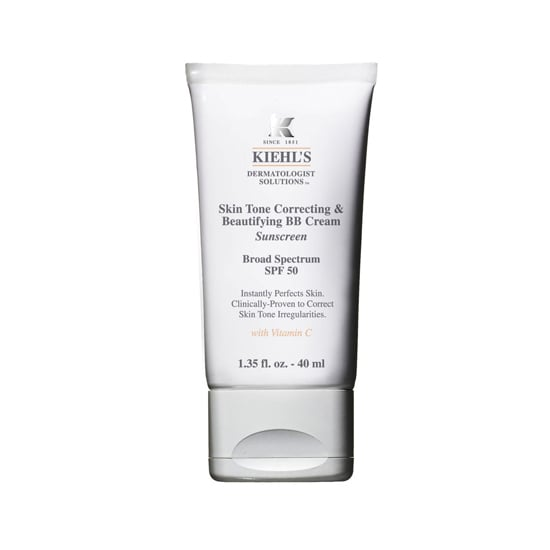 Kiehl's Skin Tone Correcting & Beautifying BB Cream ($37) evens my complexion, provides decent coverage, and shields my skin with SPF 50. Be prepared to receive tons of compliments on your glowy skin, too.  — KJ