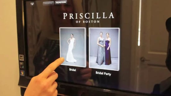 HP TouchSmart Tablets Used in Priscilla of Boston Bridal Stores