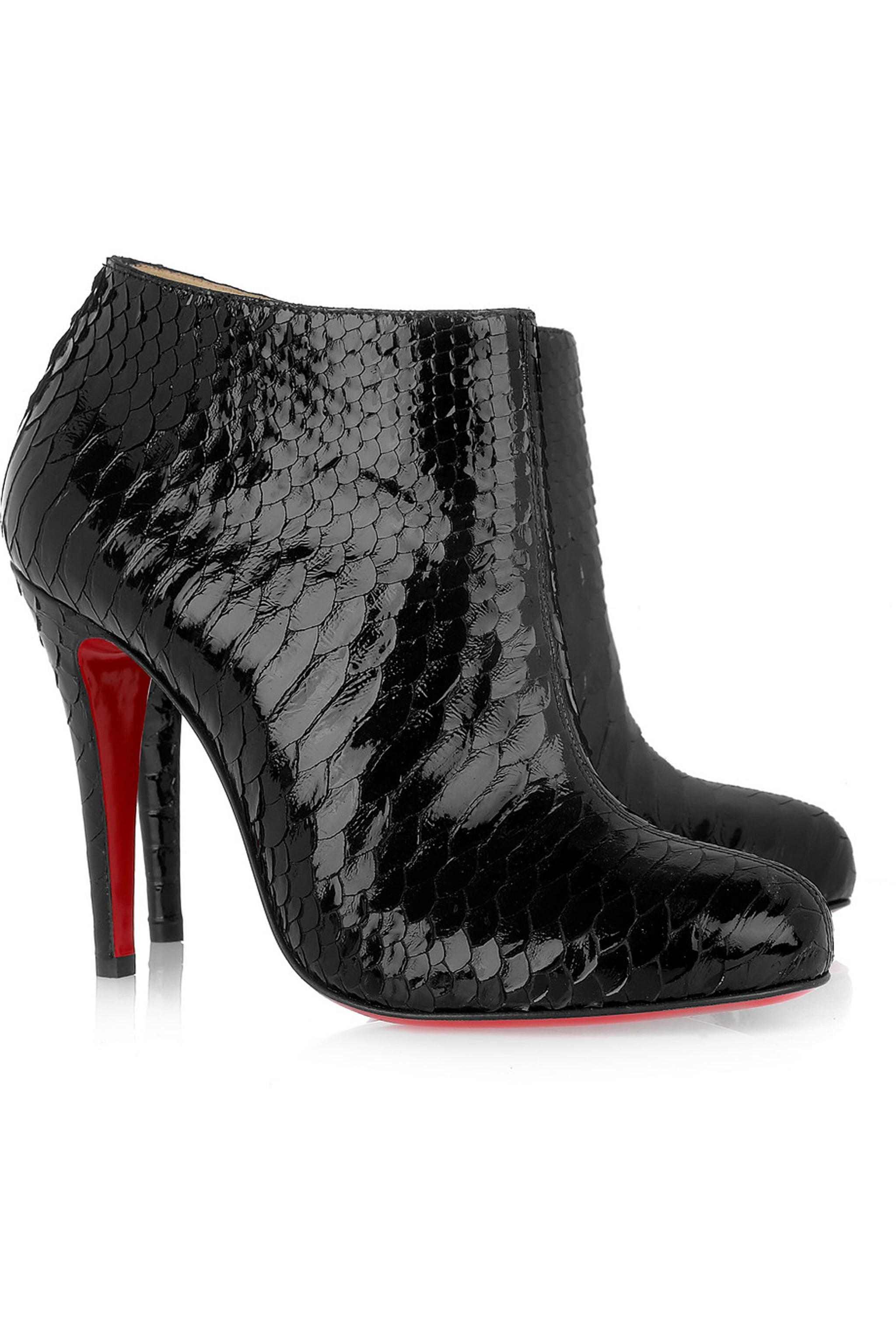 christian louboutin fake - Christian Louboutin Belle Python Ankle Boots ($797 on sale ...