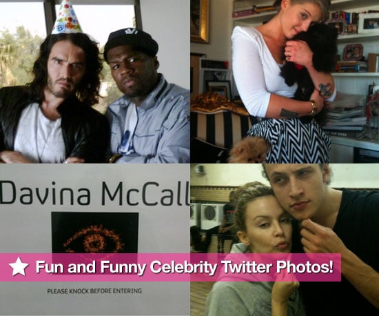 Pictures From Celeb Twitter Accounts Including Kylie Minogue, Russell Brand, Katy Perry, Jamie Campbell Bower and More