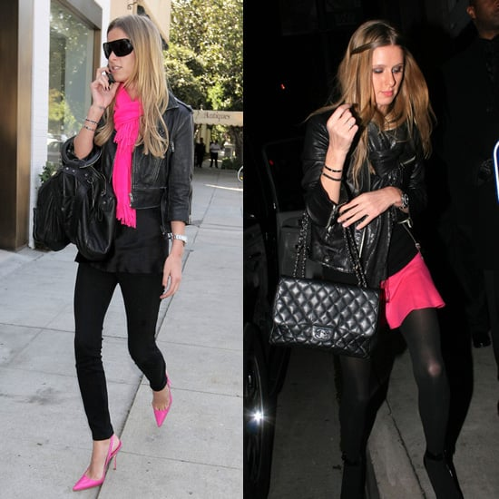 Nicky Hilton's Favorite Color Combination: Hot Pink and Black