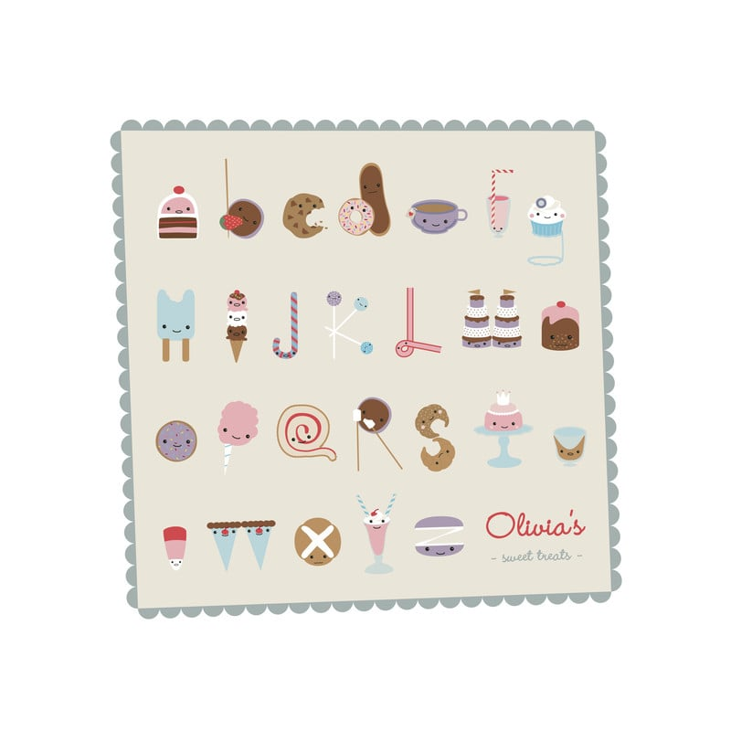 """Sweet Treats Alphabet"" by Frooted Design ($20)"