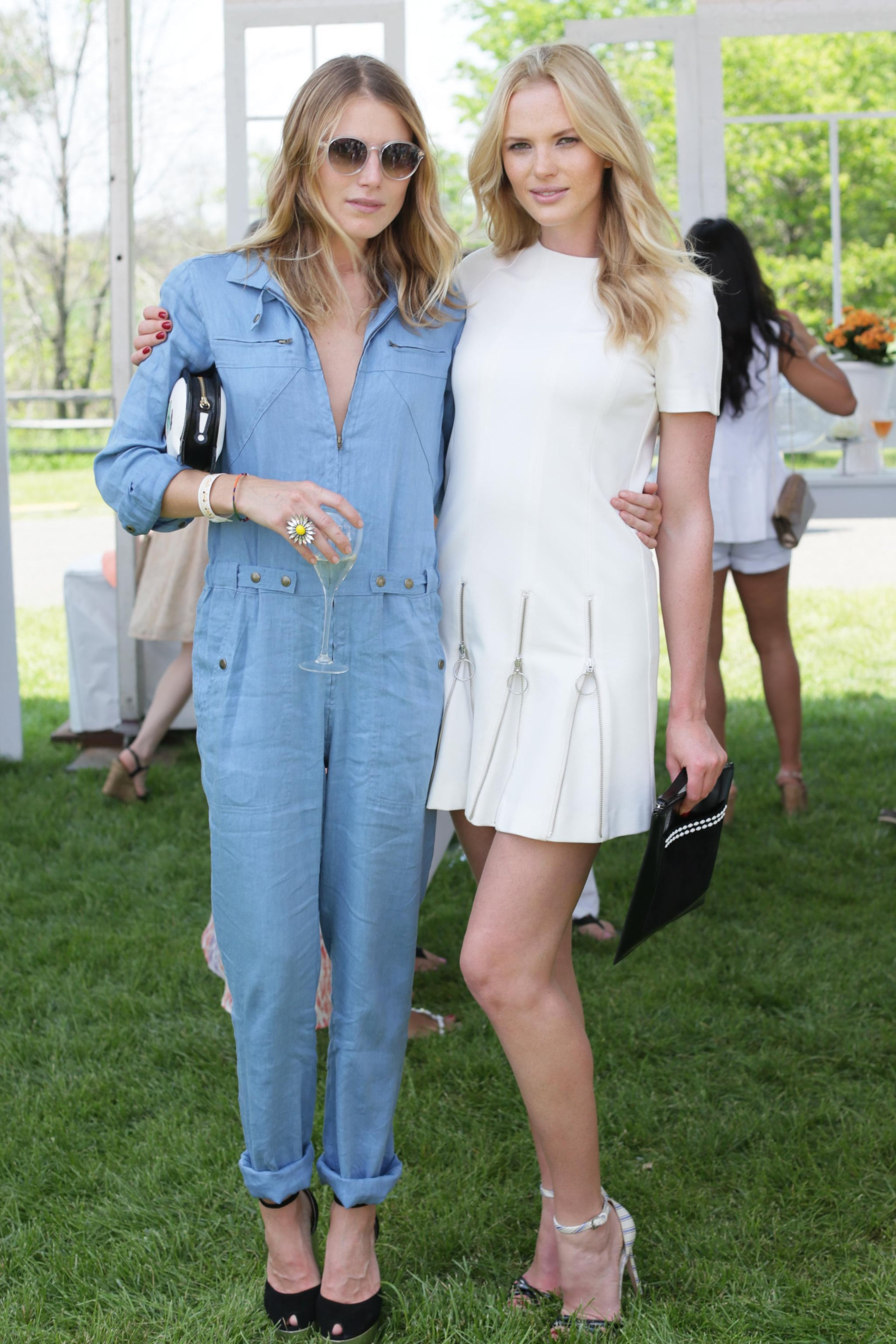 Dree Hemingway and Anne Vyalitsyna at the sixth annual Veuve Clicquot Polo Classic in Jersey City, NJ.  Source: David X Prutting/BFAnyc.com