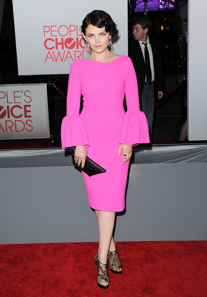 Ginnifer Goodwin was in a bright pink dress at the People's Choice Awards.