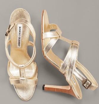 Glamorous and Golden Resort Sandals