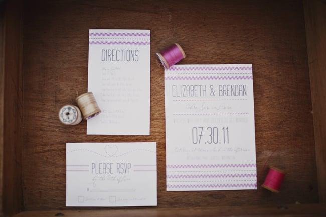 Sew in Love Wedding Invitation