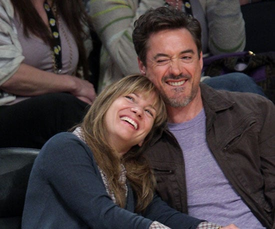 Photo of Robert Downey Jr. and Susan Downey at the Lakers Game