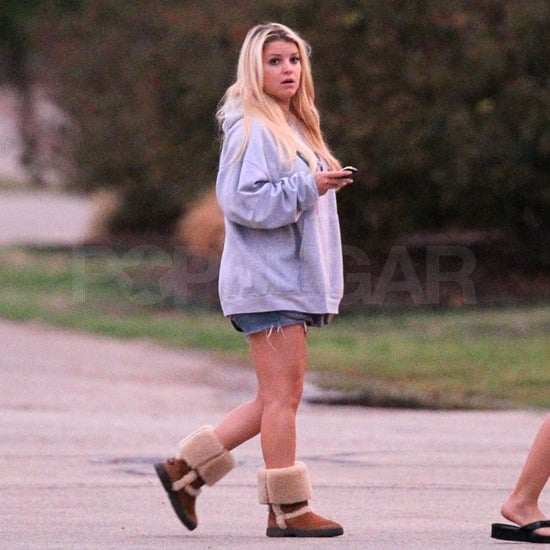 Jessica Simpson Visiting Dallas Pictures