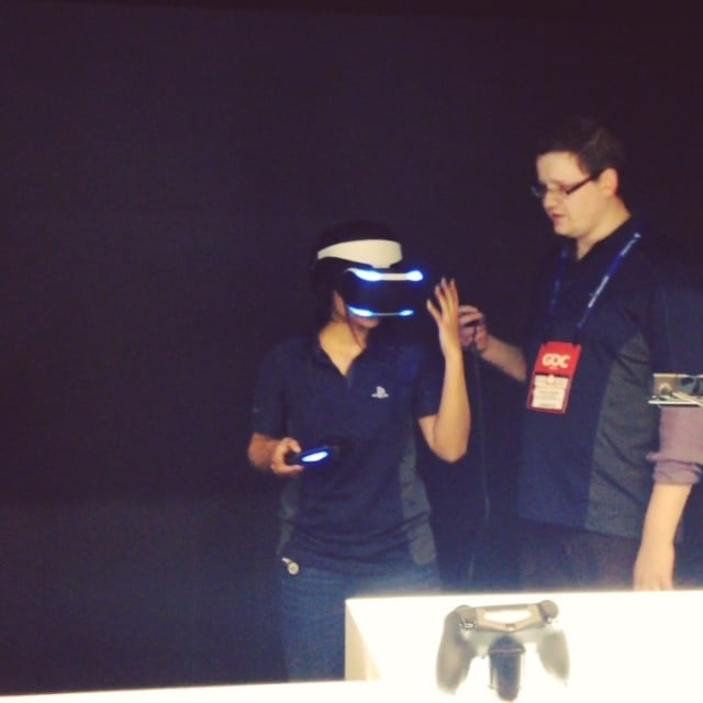 Project Morpheus at GDC With Dualshock 4