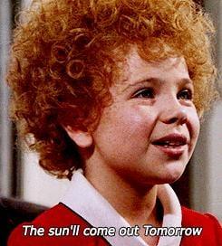 Tomorrow! She says.