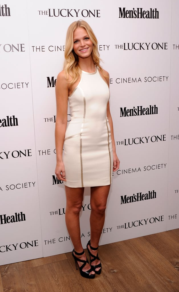 Erin Heatherton looked happy to attend the Cinema Society and Men's Health screening of The Lucky One in NYC.