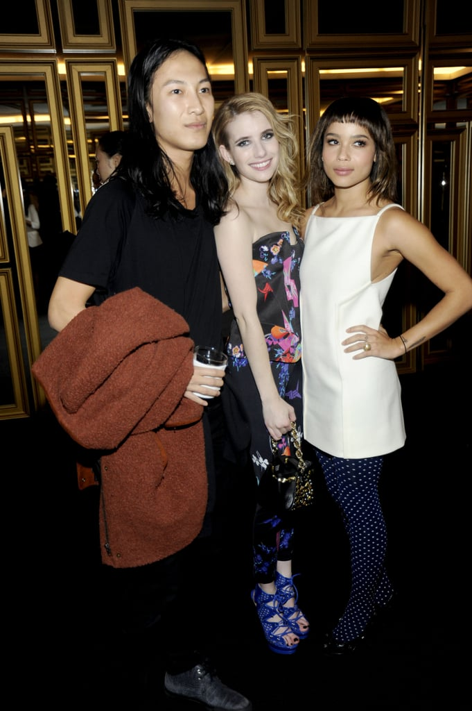 Emma Roberts, Alexander Wang, and Zoe Kravitz hung out at the Versace for H&M party.