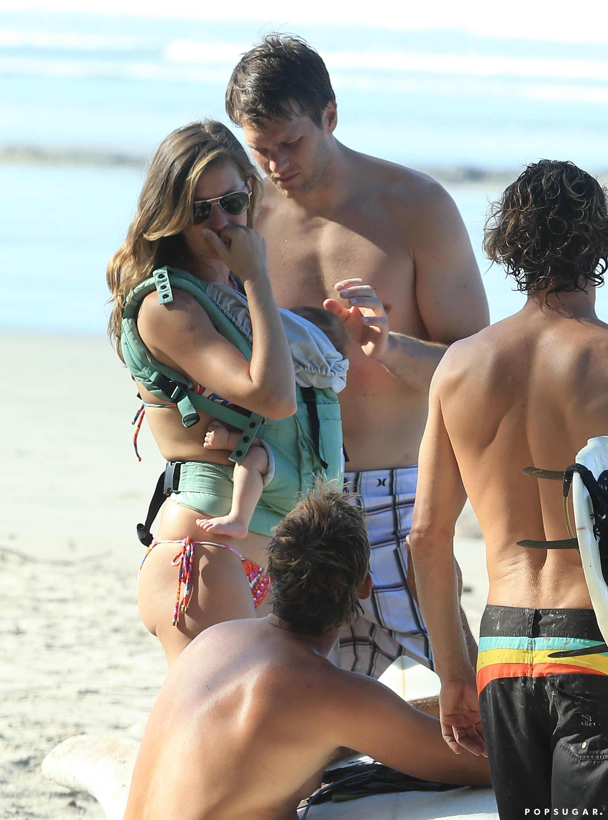 Tom Brady doted on his daughter in Costa Rica.