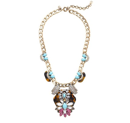 This J.Crew Tortoise and Turquoise Statement Necklace ($158, originally $198) was made for pairing with your closet basics, like a t-shirt or chambray button-down.