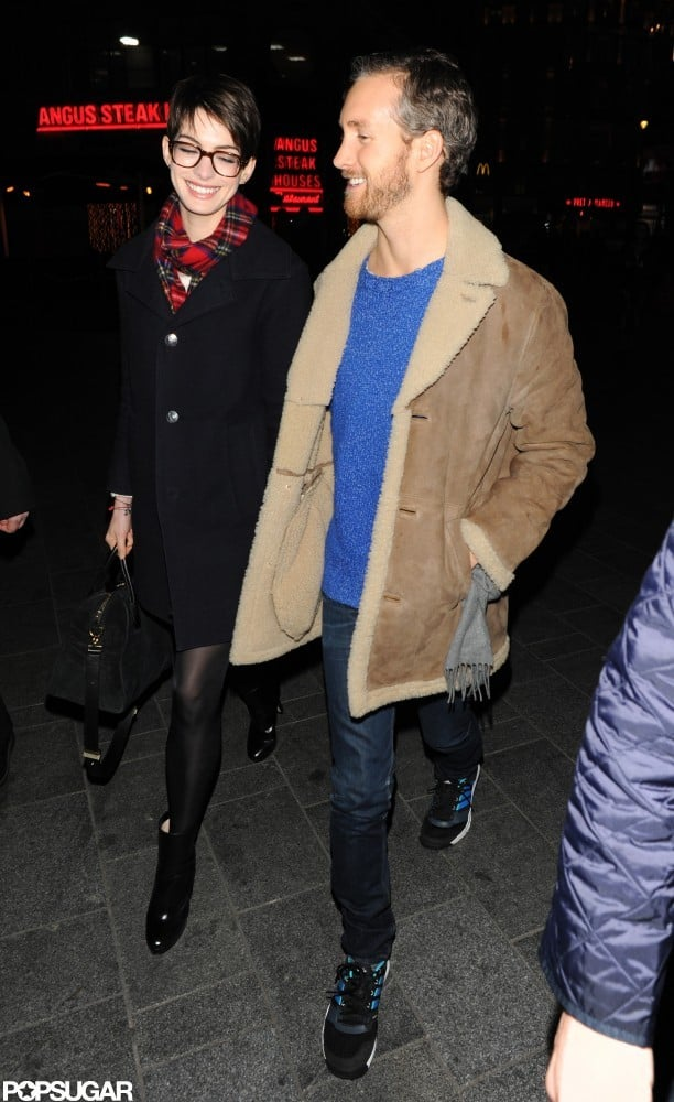 Anne Hathaway and Adam Shulman shared a sweet moment.