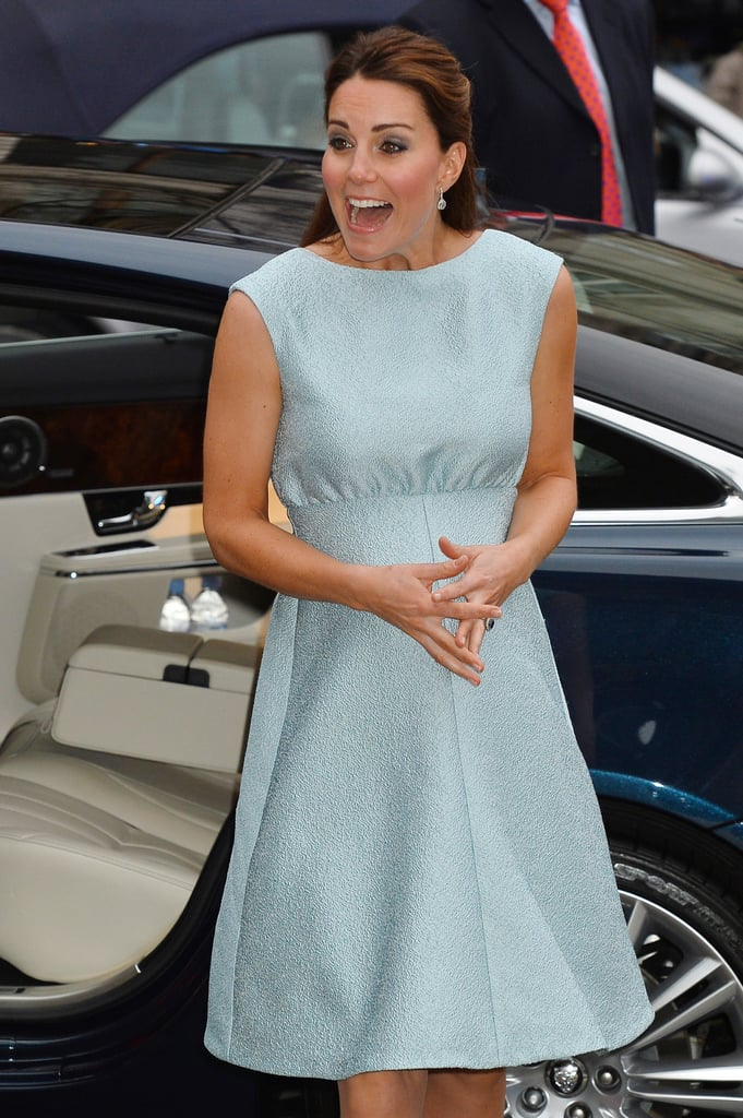 Kate Middleton Makes a Bright Appearance in London With Her Bump