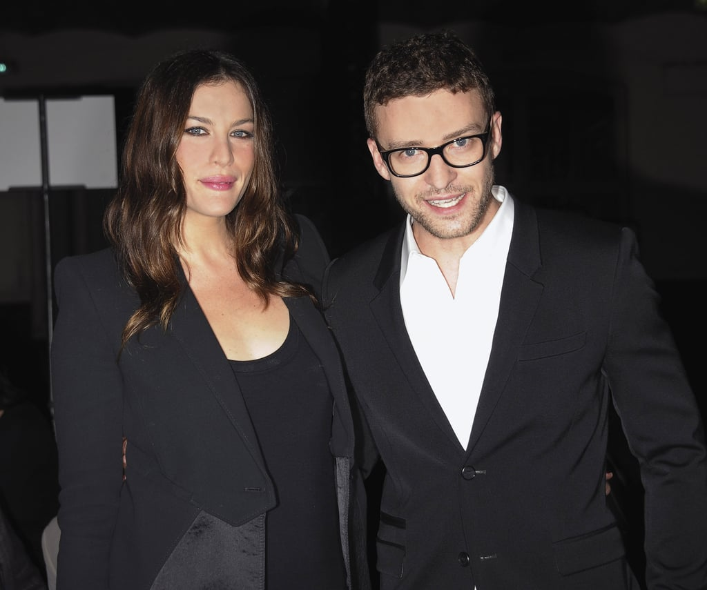 Liv Tyler posed with a bespectacled Justin Timberlake backstage at the Givenchy fashion show in 2010.