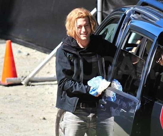 Slide Photo of Jackson Rathbone Icing His Hand on Eclipse Set
