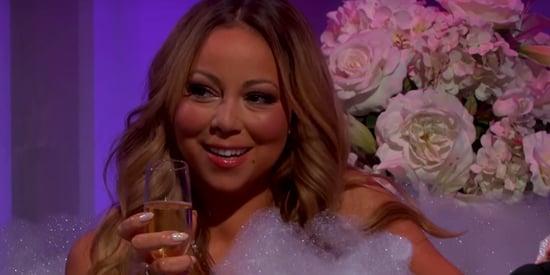 Shirtless Men Feed Mariah Carey Grapes In A Bathtub On 'Jimmy Kimmel'