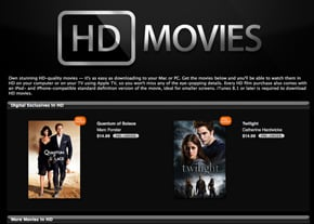 iTunes Now Offering Movies in High Definition Quality