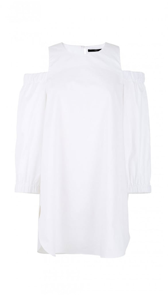 Tibi Satin Poplin Cut Out Shoulder Tunic ($207, originally $295)