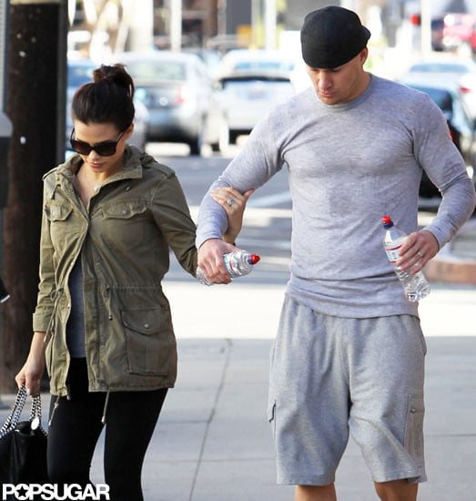 Channing Tatum accompanied his pregnant wife, Jenna Dewan, to a dance class in LA.