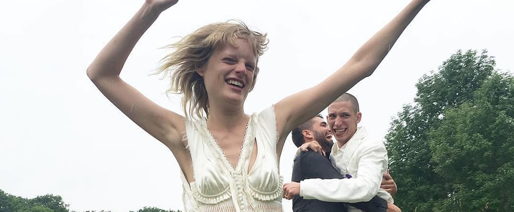 This Model Walked Down the Aisle in a Hooded Cape — but What She Had On Underneath Will Leave You in Awe