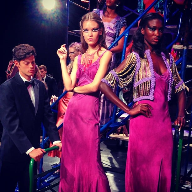 The models were dripping in jewels at Erickson Beamon.