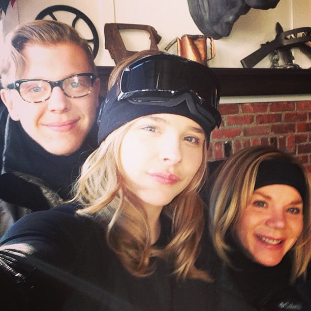 Chloë Moretz went skiing with her family. Source: Instagram user cmoretz