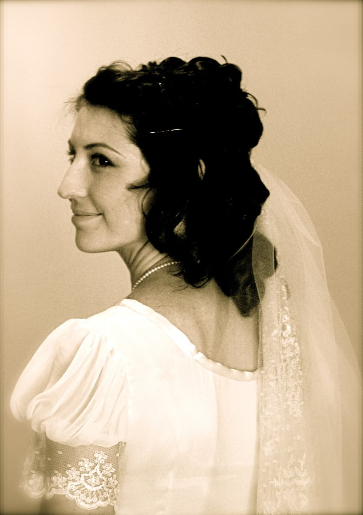 A loose and wavy hairstyle, paired with a low-slung veil, made for a soft and romantic ensemble. Source: Flickr user katclay