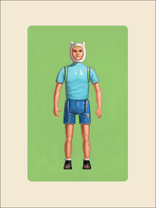 The Human Boy ($25) by Mike Mitchell Giclee, signed, 6-inch by 8-inch
