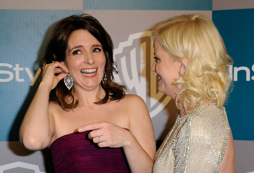 Tina Fey and Amy Poehler at InStyle's Golden Globes afterparty.