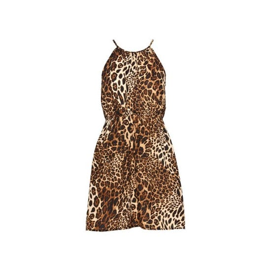 Make a statement in an animal print frock at your next soirée! Gia High Neck Print Dress, $49.95, Dotti