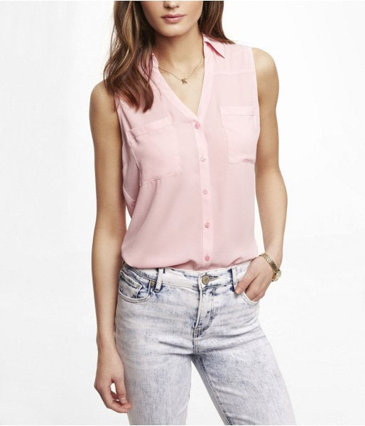 Express Sleeveless Portofino Shirt ($45)